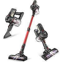 INSE Cordless Vacuum Cleaner Stick Handy& Extendable, 2 in 1 Lightweight Quiet Handheld Vac for Pet Hair Hardwood Floors…