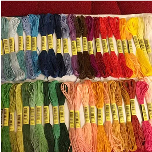 50pcs similares Dmc Hilo Multicolor algodón Bordado Hilo de Coser ...