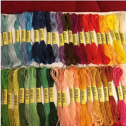 50pcs similares Dmc Hilo Multicolor algodón Bordado Hilo de Coser ...