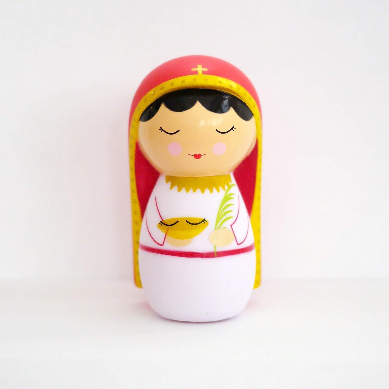 "Gianna Beretta Molla Vinyl Figure With Story /"" Prayer Shining Light Dolls St"