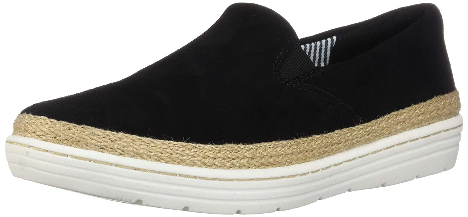 Black Nubuck Clarks Womens Marie Pearl Fashion Sneakers