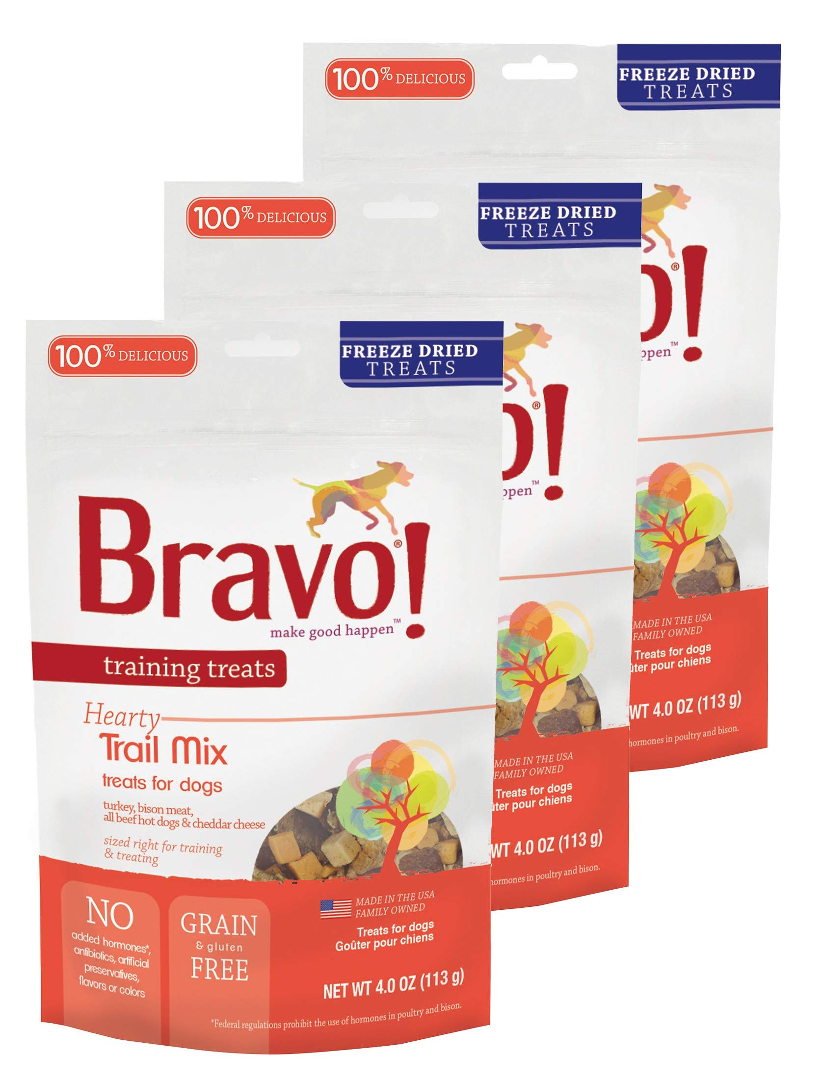 Bravo! Dog Treats Trail Mix Flavor 4 oz. 3 Pack