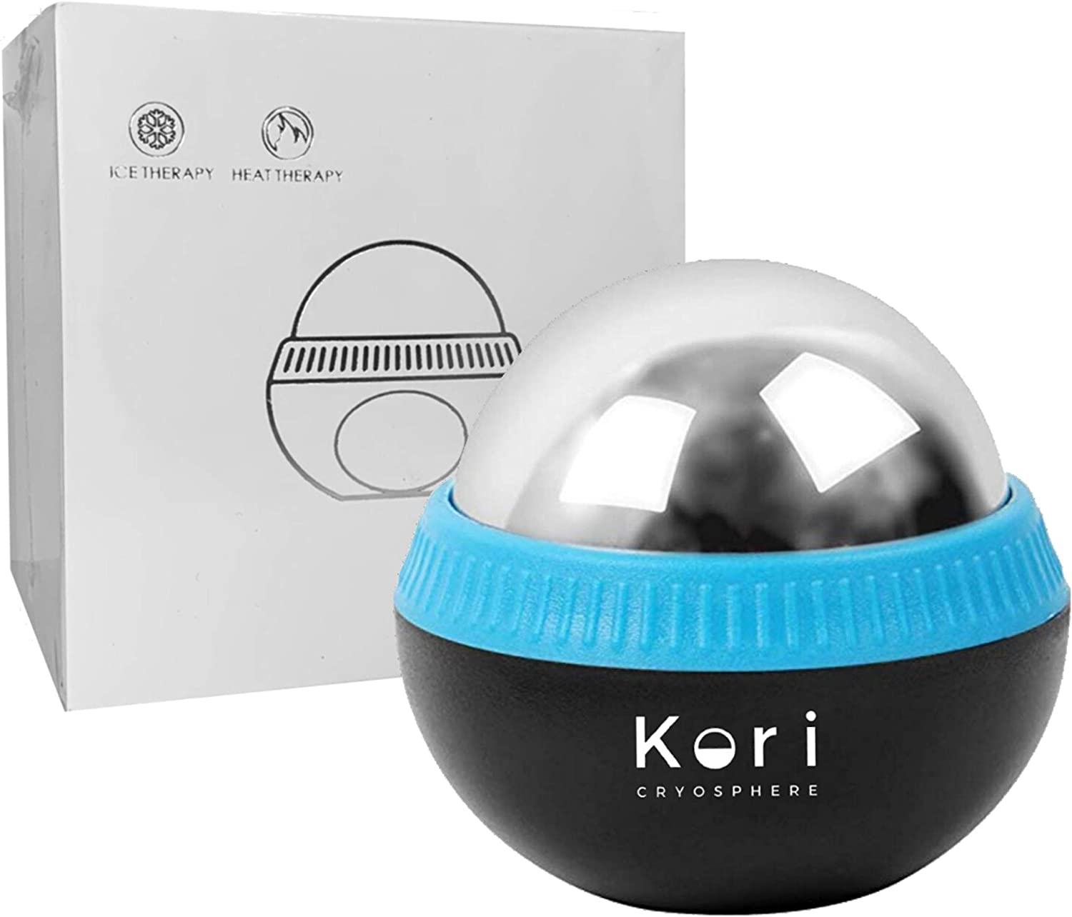 Kori Cryosphere Cold Massage Roller Ball - 6 Hours Cold/Hot Relief - Removable Ball - Rapid Recovery - Inflammation Reduction - Ice Roller - Myofascial Release - Perfect Massage Gifts