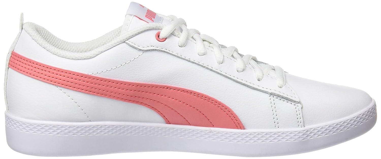 Puma Unisex-Erwachsene Smash WNS V2 Weiß-shell L Sneaker, Weiß (Puma Weiß-shell V2 Pink 05) e36e17