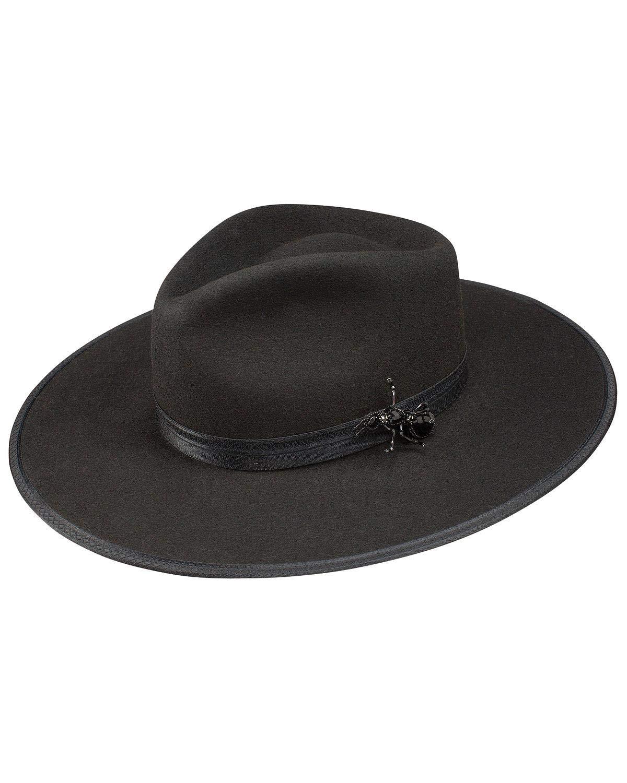 Stetson Women's Queenie Brooch Hat Black Medium