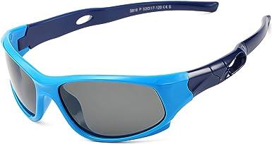 Kids Sunglasses for Girls Boys Age 3-10 Polarized TPEE Rubber Flexible Sun Glasses 100/% UV Protection