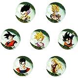 Canicas Dragonball Z, 7 bolas de cristal 22mm Goku y Familia