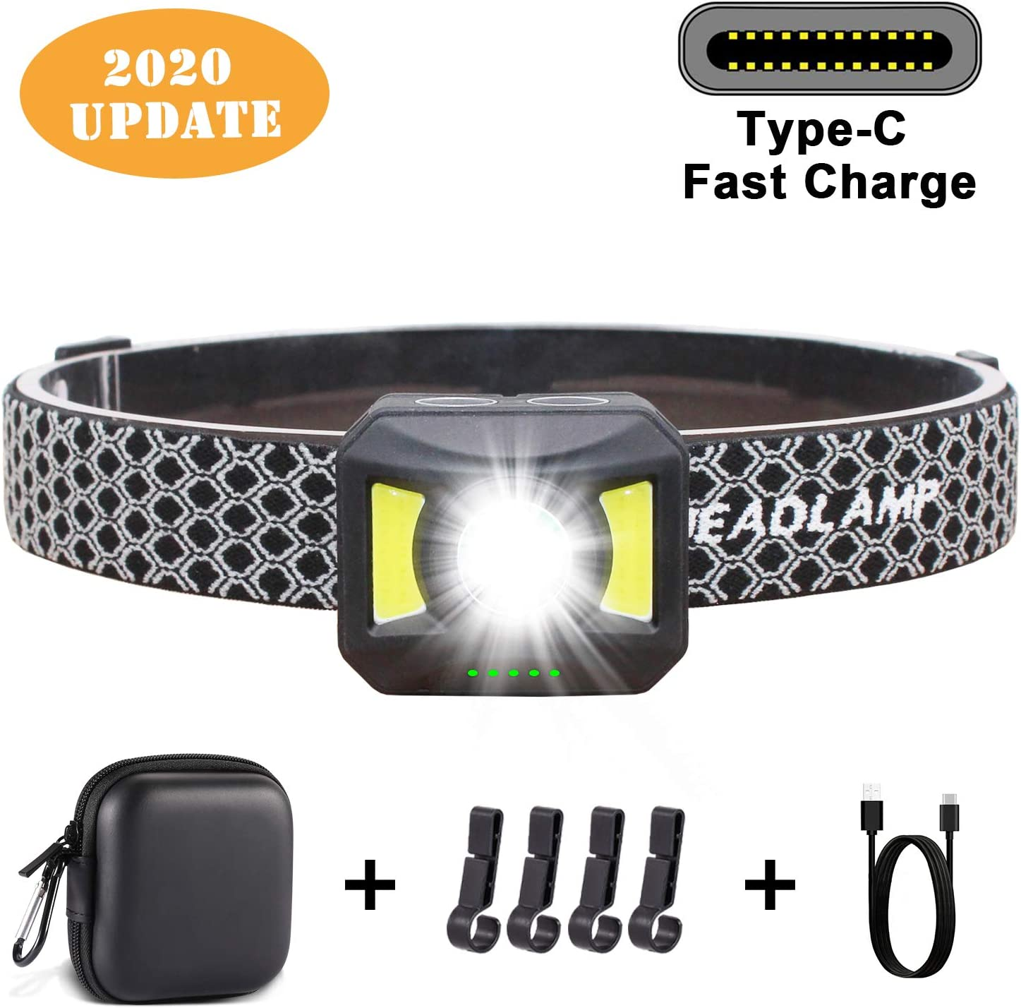 Running Camping Hiking Headlamps for Adults /& Kids Rechargeable Headlamp 7 Modes Headlamp Flashlight IPX6 Waterproof 800 Lumen Ultra Bright LED Headlamp with Red Light Lightweight Less Press