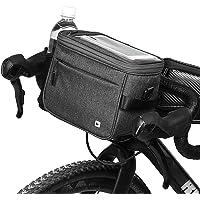 Selighting Fietsstuurtas, waterdicht, fietstas met regenhoes (donkergrijs)