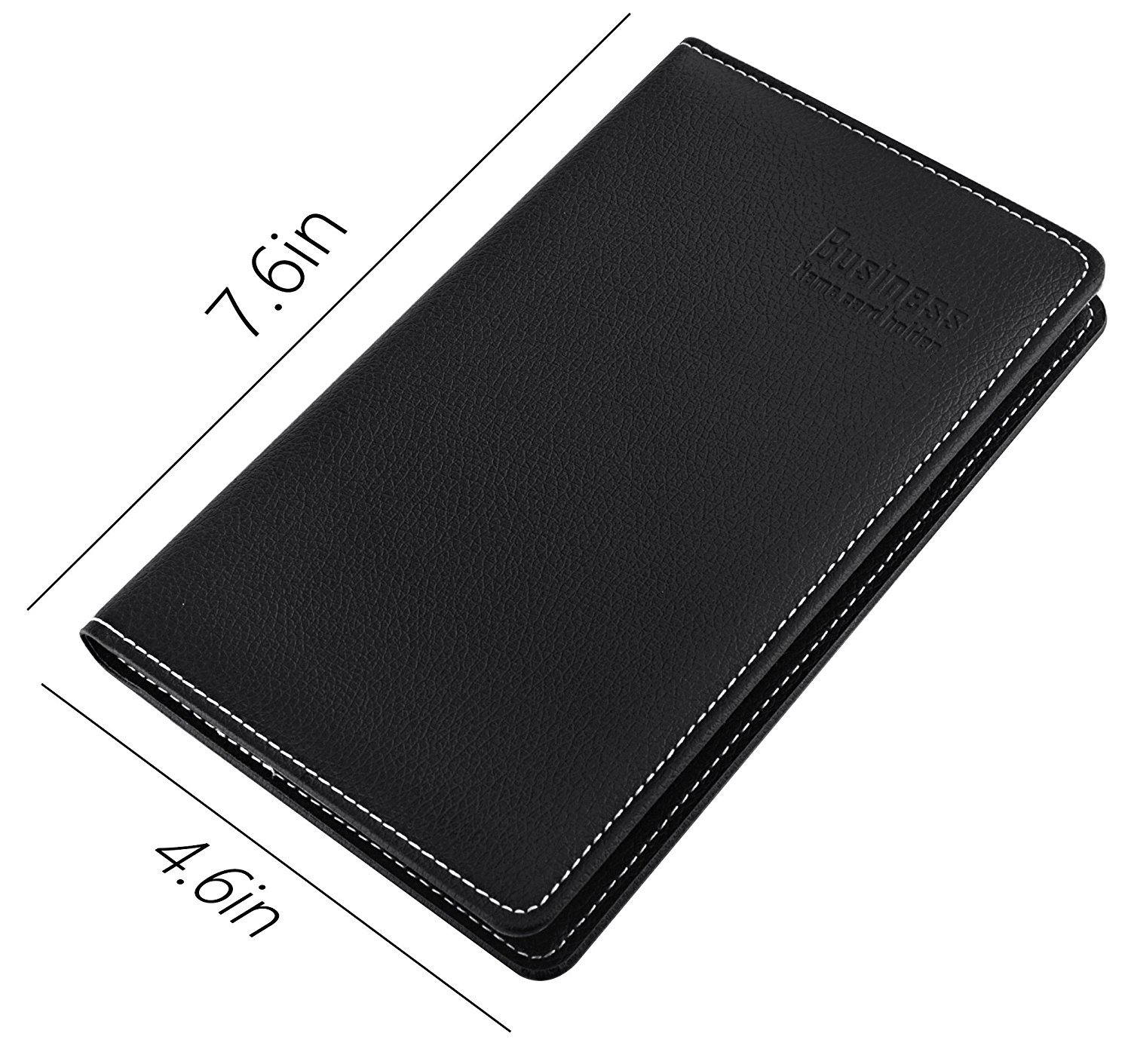 Hamosky Professional PU Leather Business Card Book Holder Journal Business Card Organizer Office Business Card Holder Name Card Book Holder 240 PCS