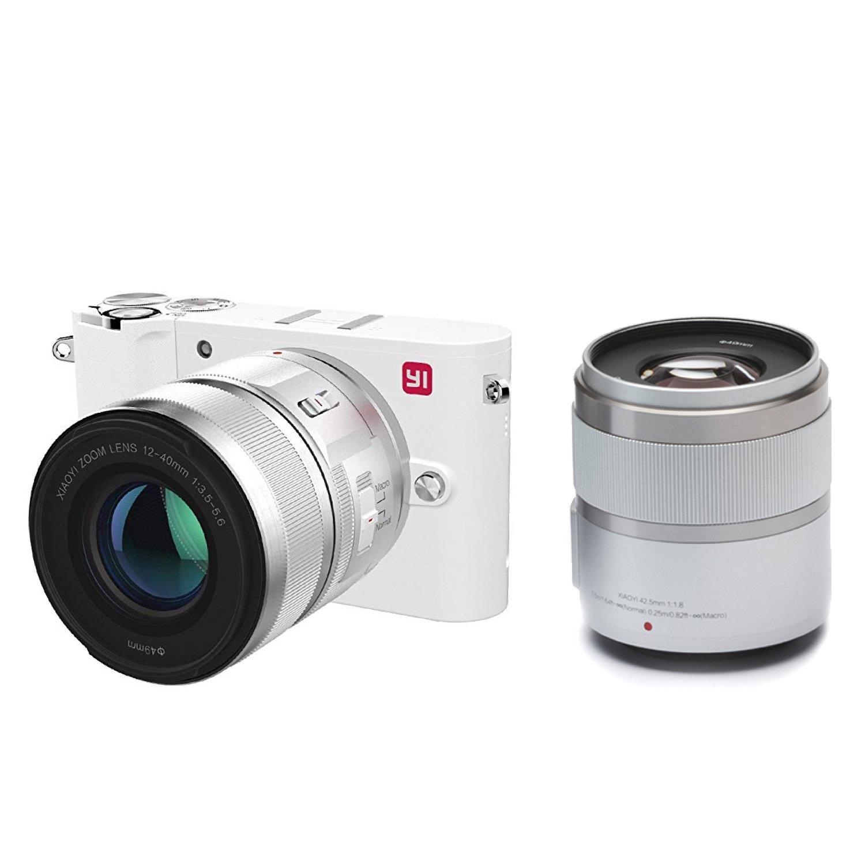 Yi M1 Fotocamera Mirrorless 4k con 2 obiettivi a 289,99 euro