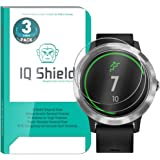Garmin Vivoactive 3 Screen Protector (3-Pack), IQ Shield Tempered Ballistic Glass Screen Protector for Garmin Vivoactive 3 99.9% Transparent HD and Shatter-Proof Shield