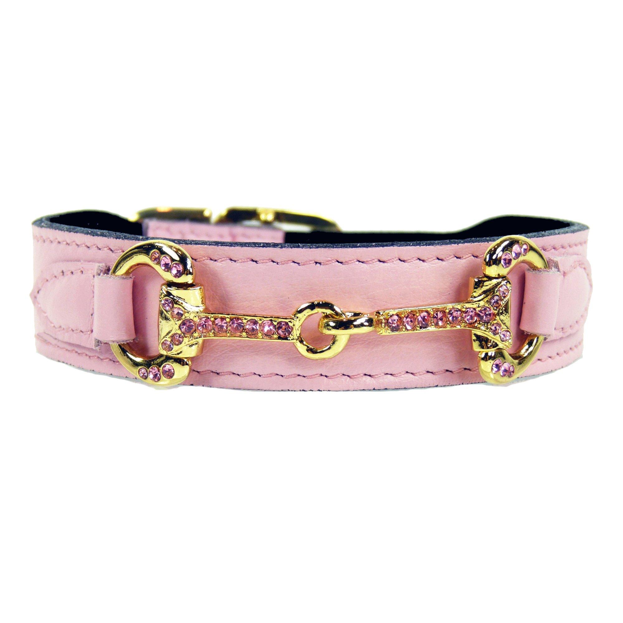 Hartman & Rose Horse and Hound Collar, Sweet Pink, 14''