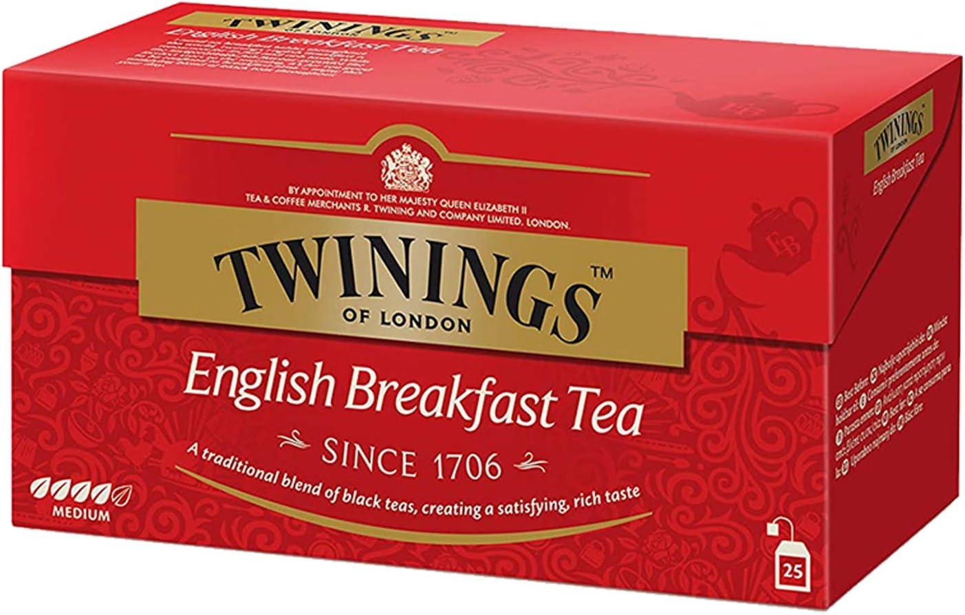 Twinings - Té English Breakfast 25 S: Amazon.es: Alimentación y bebidas
