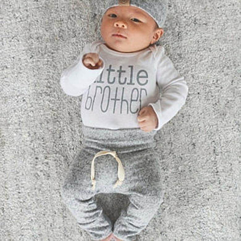 Covermason Conjunto de Bebé-niños, Little Brother Impresión Bodies ...