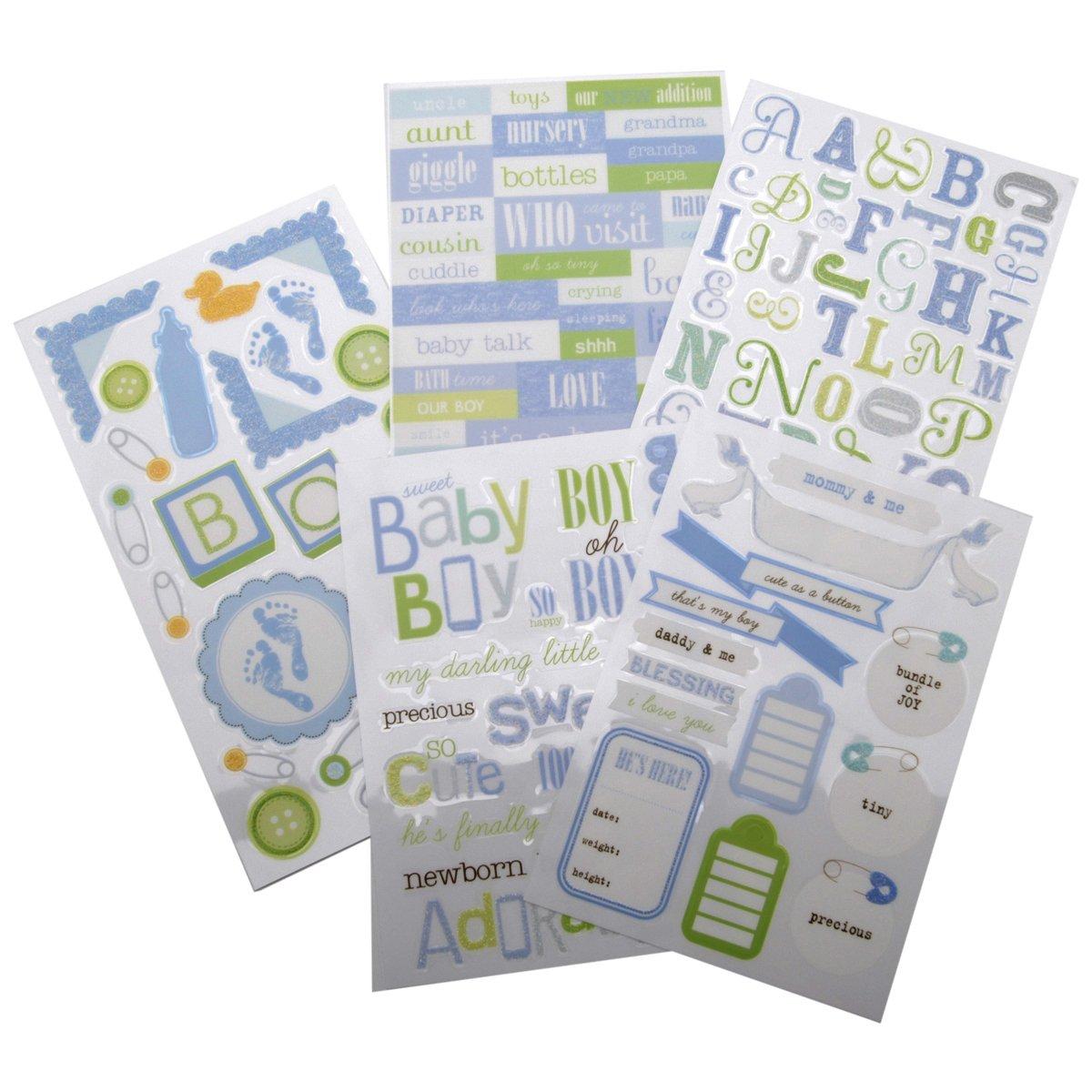 Me & My Big Ideas Glitter Sticker Flip Value Pack, Sweet Baby Boy Me and My Big Ideas GVP-25