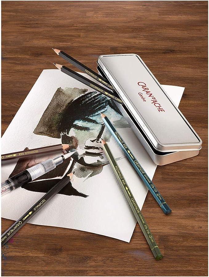 CARAN DACHE//CREATIVE ART 779307  CARAN DACHE GRAPHITE TECHNALO 7 PENCILS SET