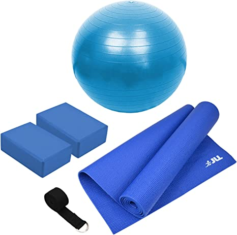 Jll Yoga Pilates/Starter Pack - Yoga Ball 55 cm + estera de Yoga 6 ...