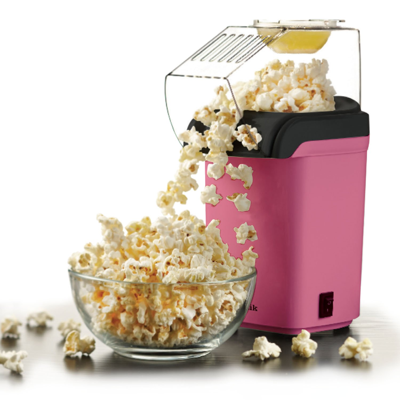 Sentik 1200w Electric Popcorn Maker Machine Fat Free Pop Corn Popper, Pink