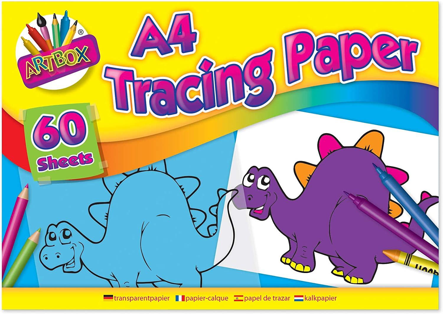 60 Sheets A4 Tracing PaperPad//Creative Fun Ideal for home//school//office//Art New
