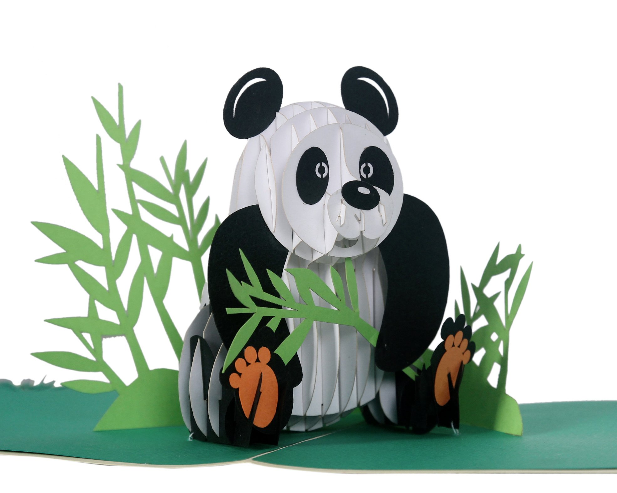 bc1737f4f439 CUTPOPUP 3D Panda Paper Pop Up Greeting Card Cute Laser Cut Panda Animal  Pop Out Card