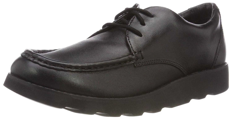 Clarks Crown Tate, Zapatos de Cordones Derby para Niños 35.5 EU|Negro (Black Leather -)