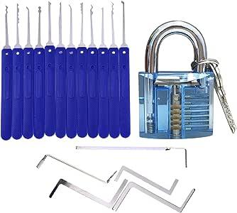 Onkee Juego de 17 Ganzúas / Lock Pick con Cerraduras