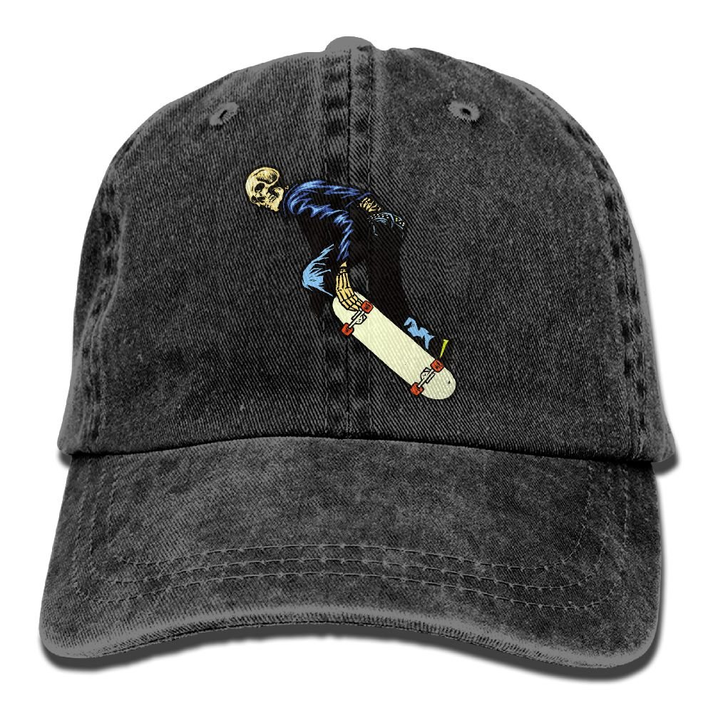 Guk5l Skeleton Skateboard Adult Washed Pigment Dyed Cotton Low Profile Dad Hats  Vintage Style Adjustable Caps at Amazon Men s Clothing store  d348eb8cbf7