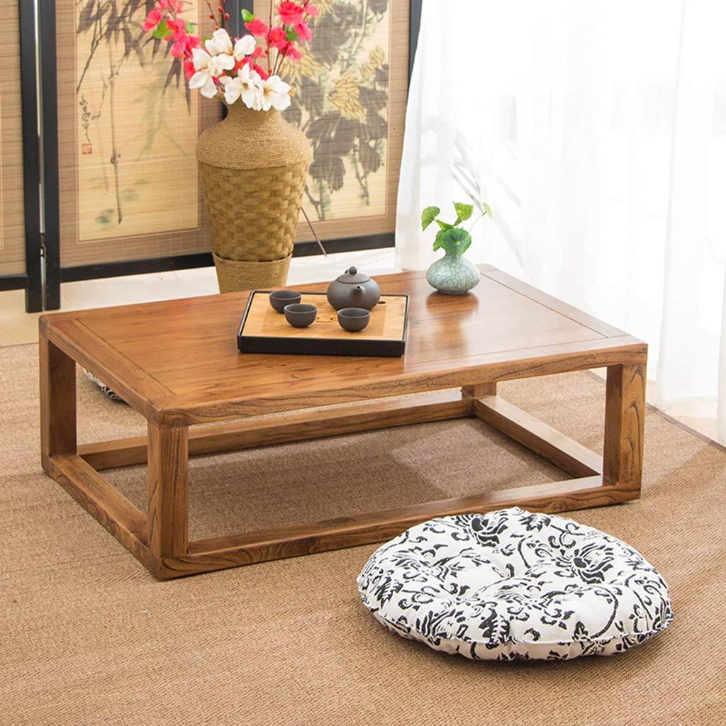 Table vitrée en Tatami Table hj Basse Baie Massif de Bois f7gYb6vIy