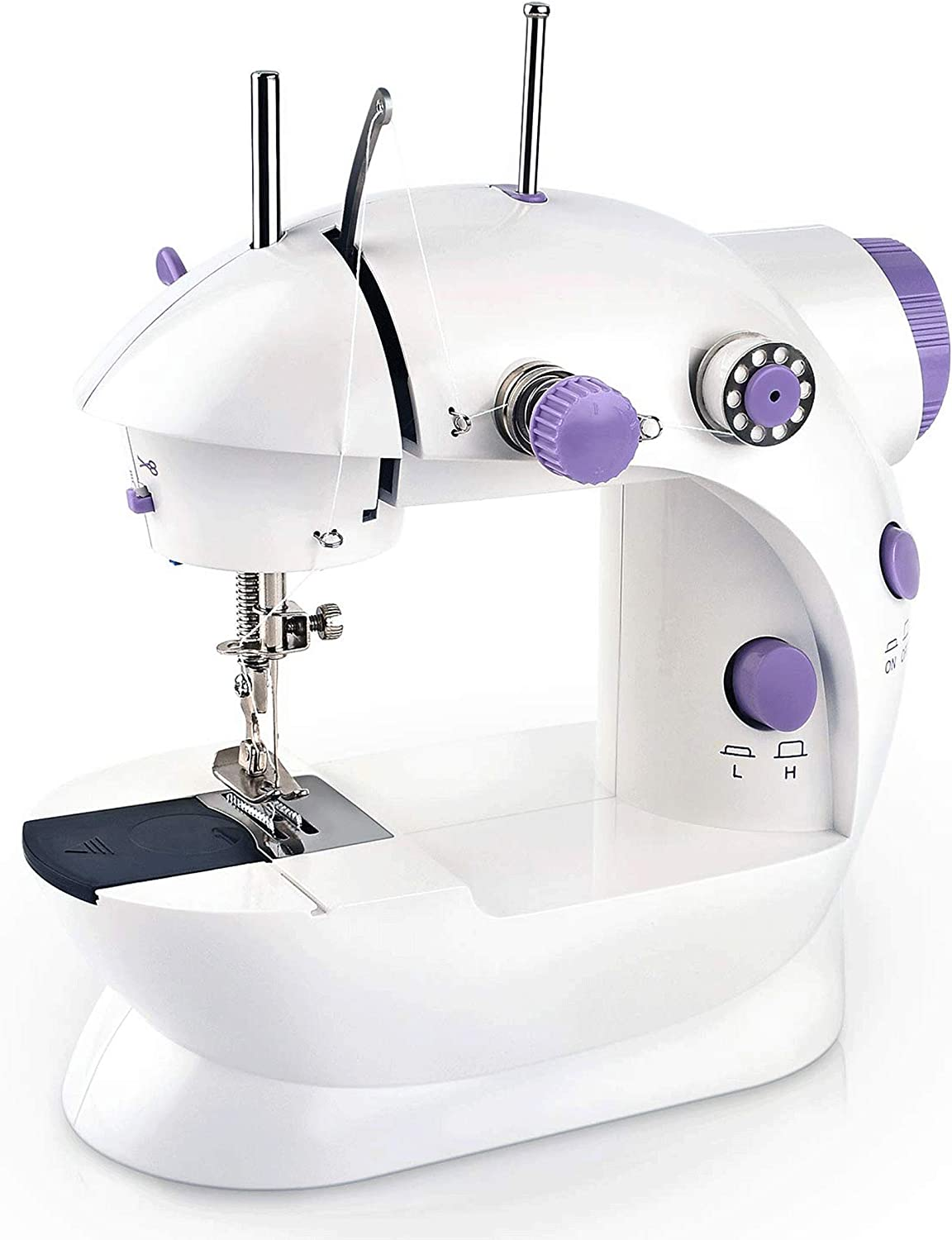 Mini Electric Portable Sewing Machine Double Speed Automatic Thread Home Tailor