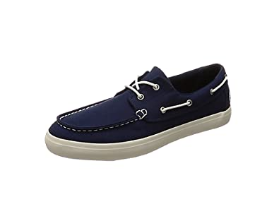 TALLA 43.5 EU. Timberland Newport Bay 2 Eye Canvas, Mocasines para Hombre