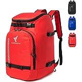 XIANFENGNIAO Ski Boot Bag,50L Waterproof Ski Boot Travel Backpack for Ski & Snowboard Boots, Ski Helmet, Goggles, Gloves, Ski