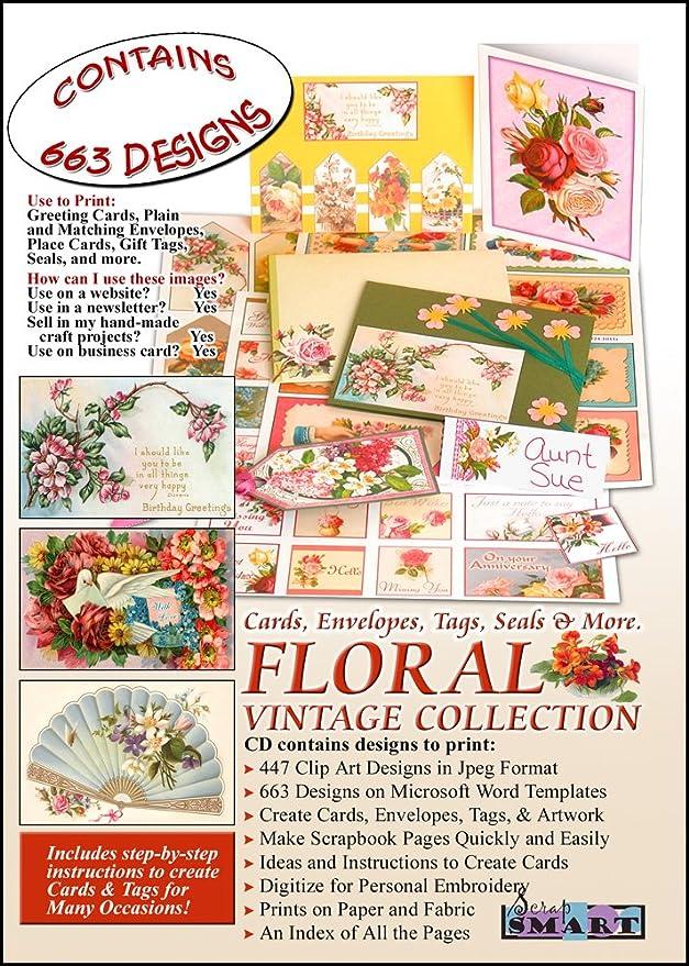Amazon Scrapsmart Floral Vintage Collection Cards Envelopes