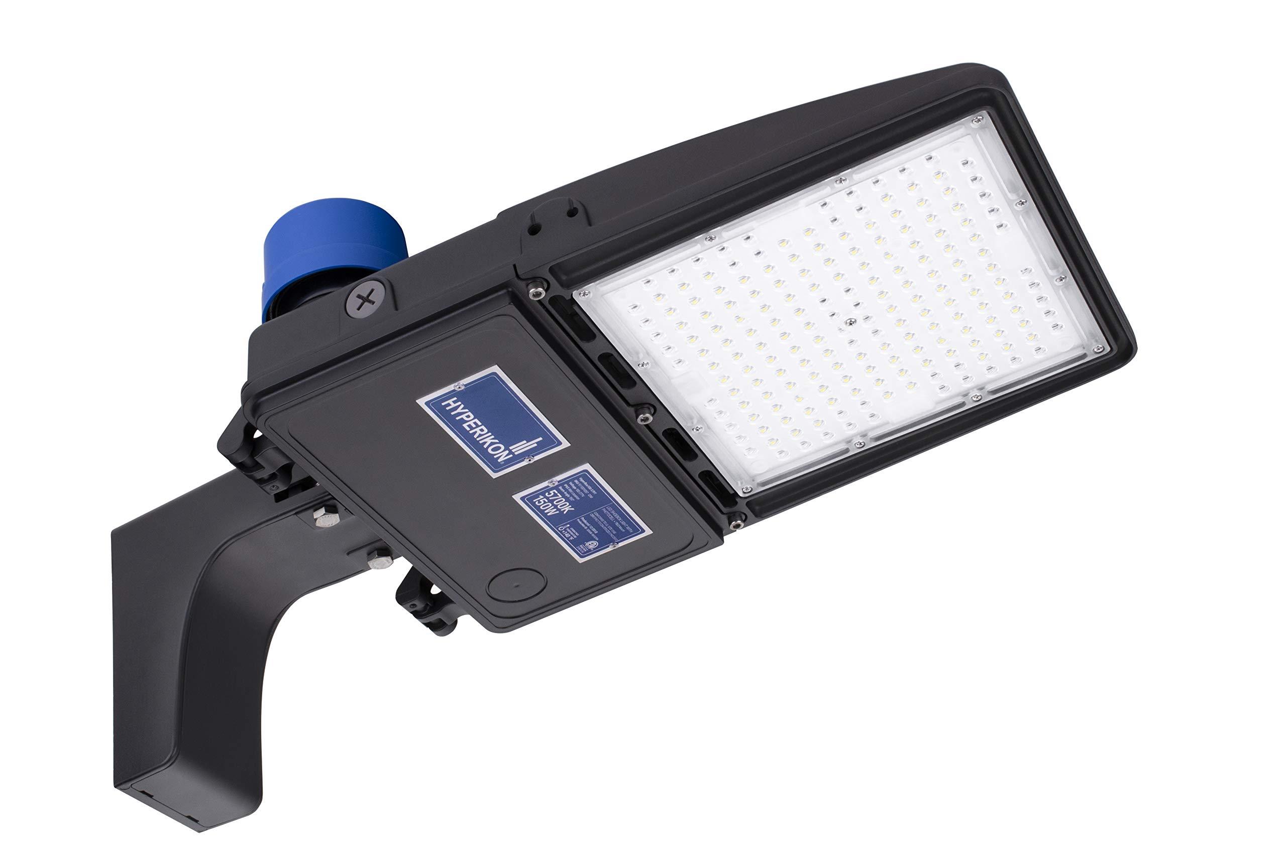 Hyperikon LED Parking Lot Lights, Shoebox Pole Light, 150W (500-600W HID/HPS Replacement) 5700K, 18000 Lumen, Waterproof, Direct Wiring AC 100-277V, Street Lights, Free Photocell Included, IP65