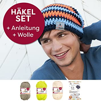 Kreative Beanie Mütze Iga Häkeln Mit Myboshi Wolle No1 3x50g
