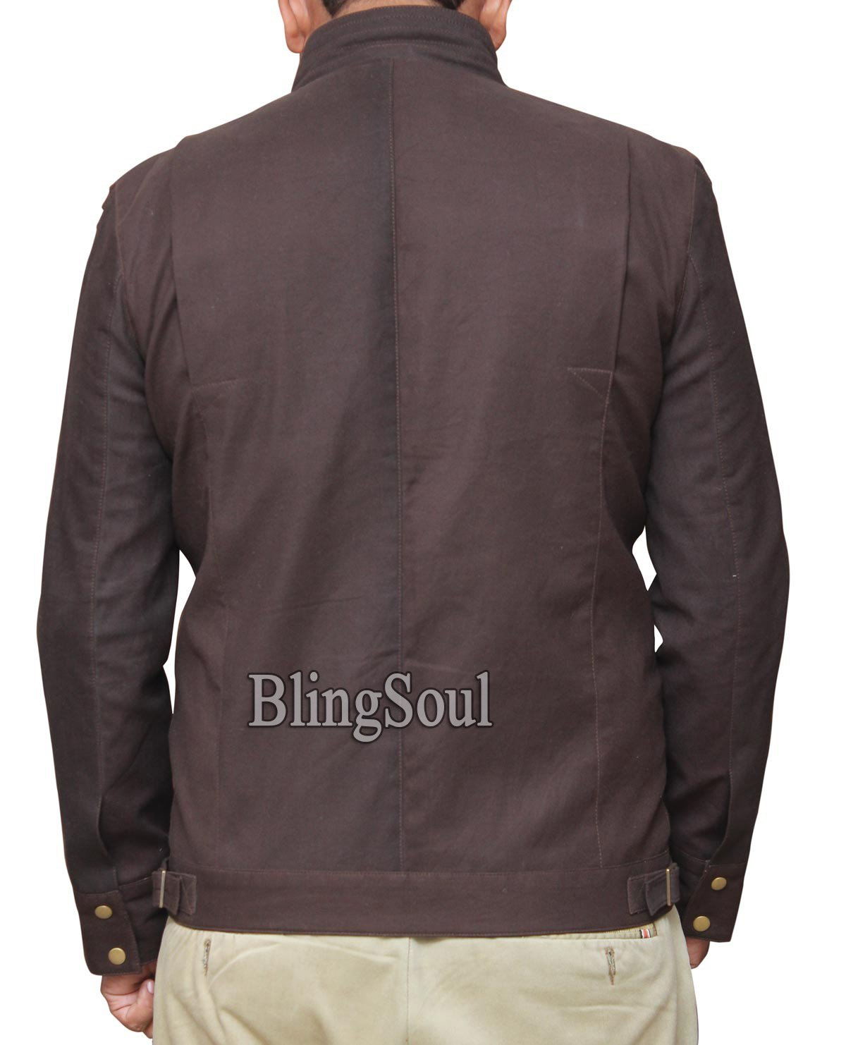 Star Wars Captain Cassian Andor Movie Jacket - Rogue One Diego Luna Brown Jacket Collection (L, Brown) by BlingSoul (Image #3)