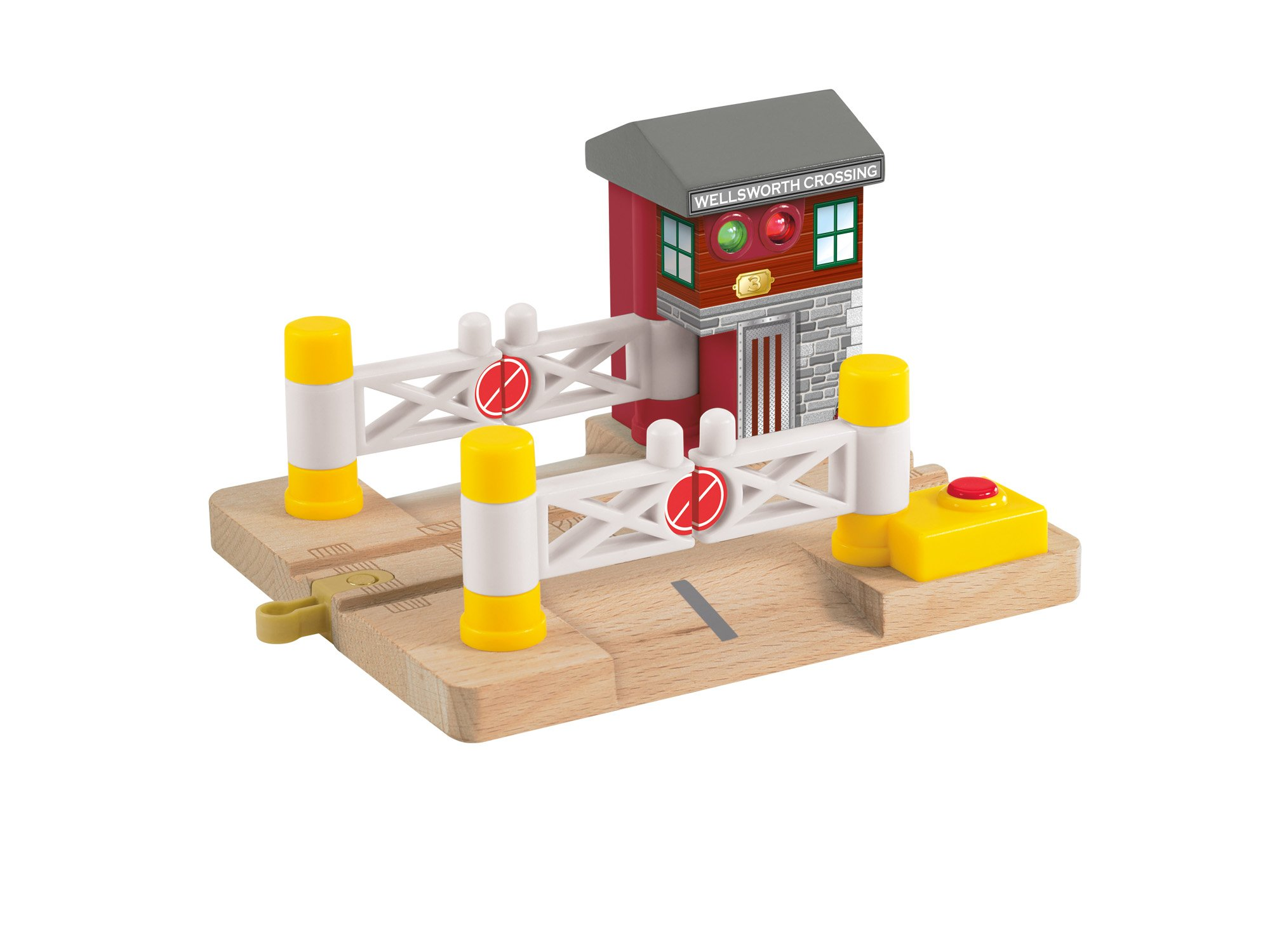 Thomas & Friends Fisher-Price Wooden Railway, Deluxe Railroad Crossing Signal - Battery Operated