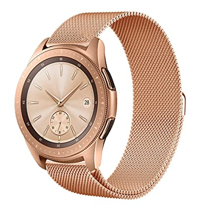 Amazon.com: Cywulin Compatible Samsung Galaxy Watch 42mm Bands, Galaxy Watch Active 20mm Stainless Steel Metal Milanese Loop Mesh Replacement Strap Bracelet ...