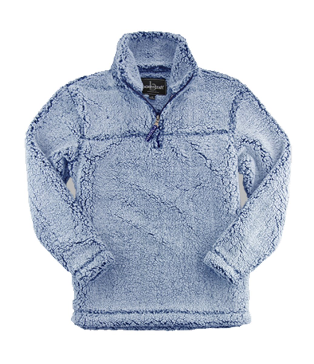 boxercraft Youth Super Soft 1/4 Zip Sherpa Pullover-Vitnage Navy-Small