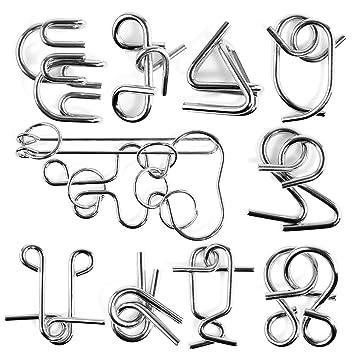 Rompecabezas Metal Fokom 10pack Puzzles 3d Juegos De Ingenio