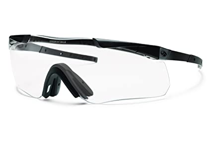 a3aaa933991 Smith Optics Elite Aegis Echo II Compact Eyeshields Sunglass with Black  Frame and Clear Gray