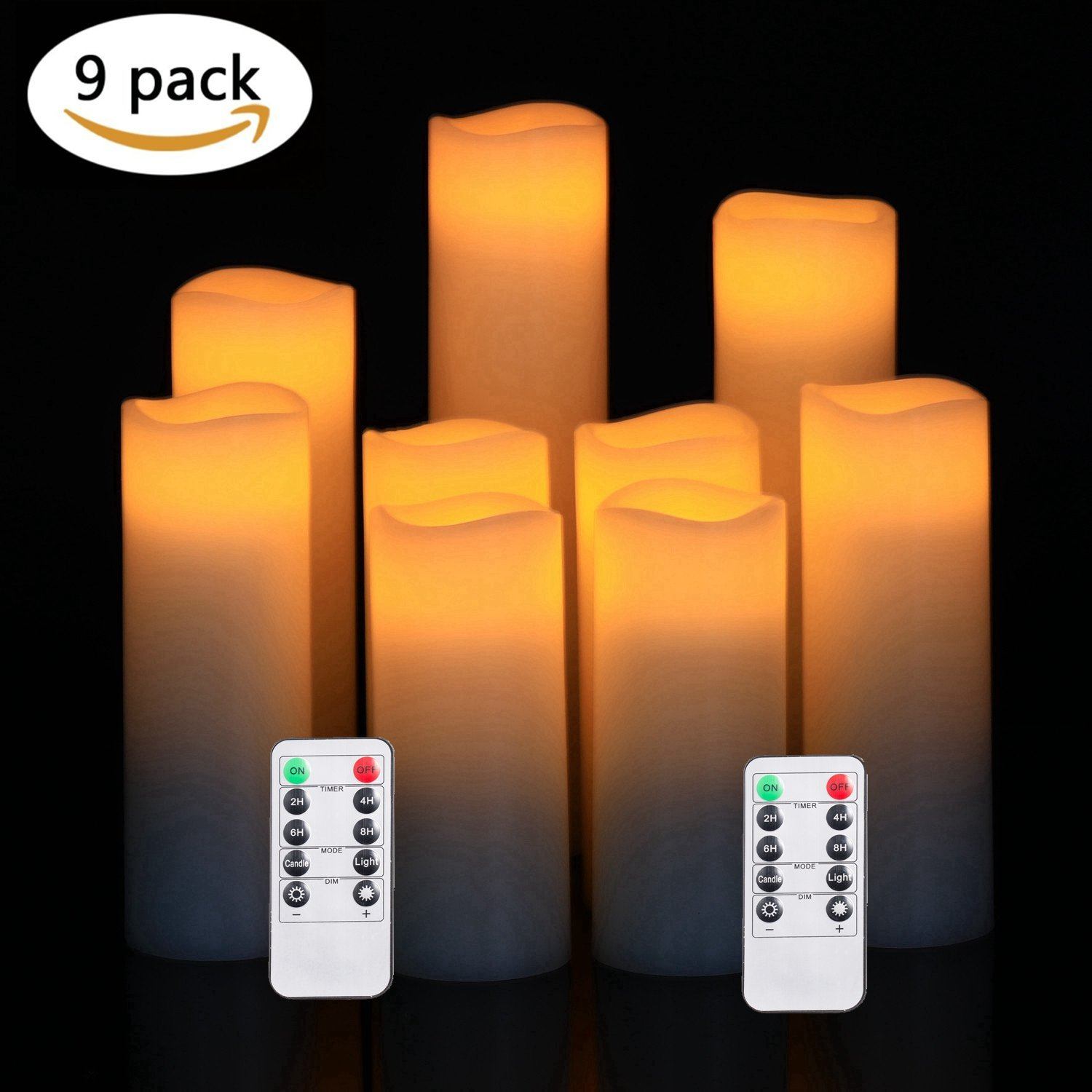 JUNPEI 24-Pack Flameless Tea Lights LED Tea Lights Fathers Day Gift Warm Yellow Lamp Battery Powered /…