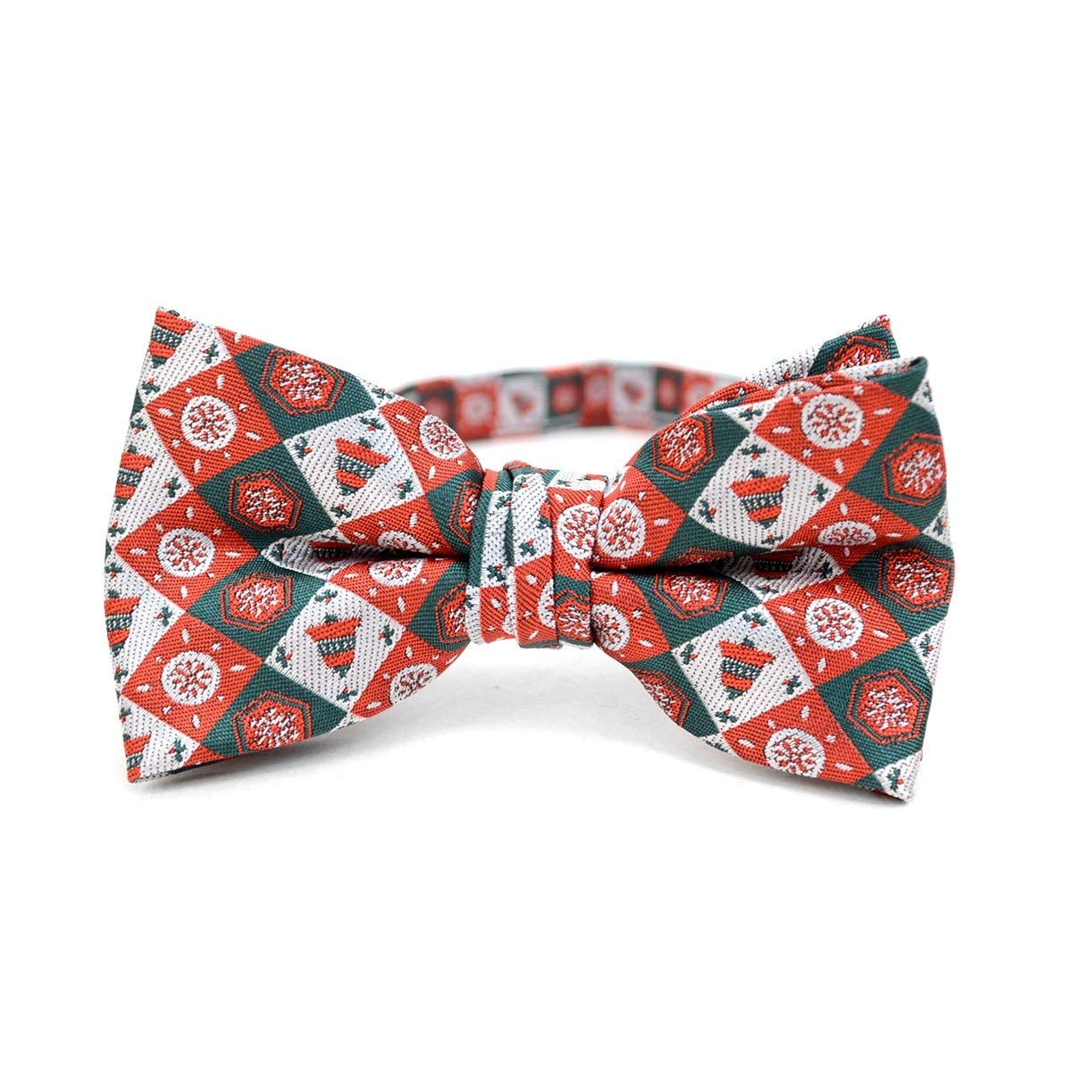 Boys Christmas Clip-on Suspender /& Matching Bow Tie Set Age 4-7