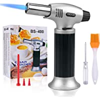 Butane Torch,SPLAKS Culinary Blow Torch Chef Cooking Torch Lighter, Butane Refillable, Flame Adjustable (MAX 2500°F…