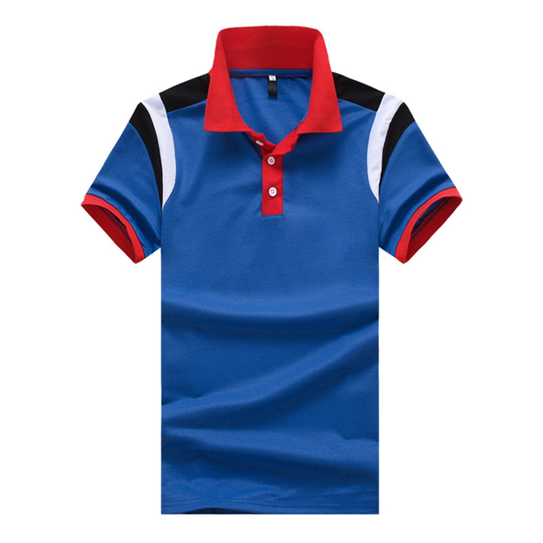 Tyler Morrison Casual Polo Shirt Male Summer Fashion New Mens Stitching Cotton Short Sleeved Polo Shirt Slim Men 5XL 6XL