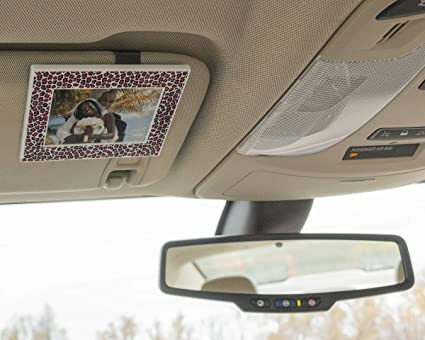 a3f0f4409 VISOR FRAMES - Clips to Car Sun Visor - Fits Standard Wallet Size Photo  (2.5 inches x 3.5 inches) - Rotating Clip for Landscape or Portrait  Position - ...