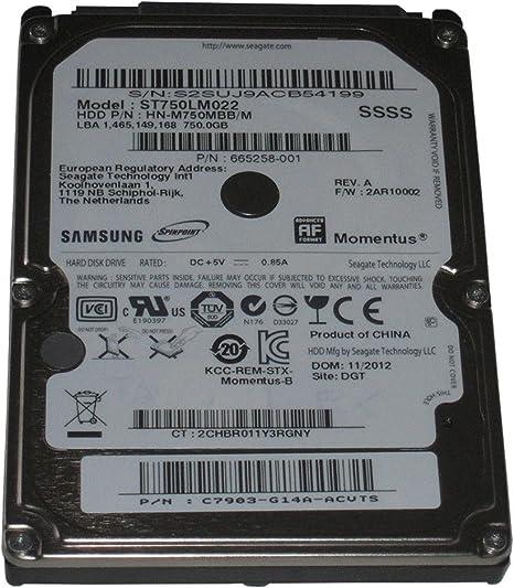 Seagate Momentus 750GB SATA 3.0 Gbps 2.5