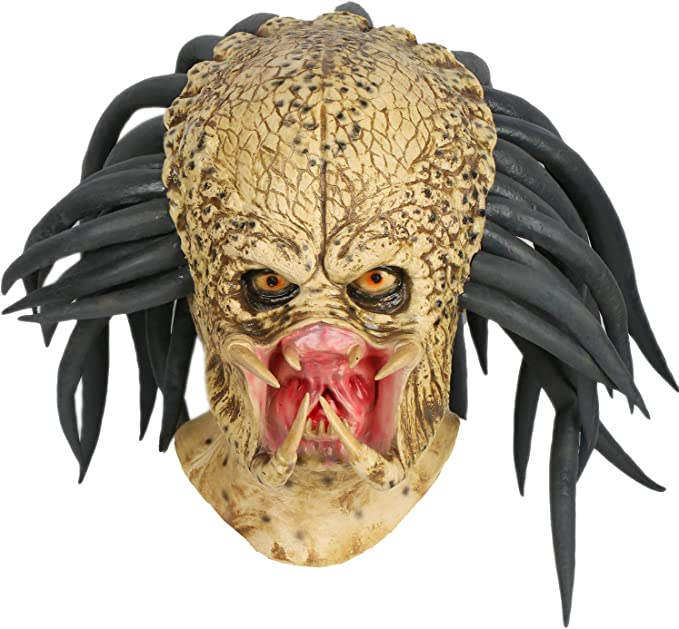 Predator Movie Halloween Deluxe Adult Costume Predator Eagles Mask Aliens vs