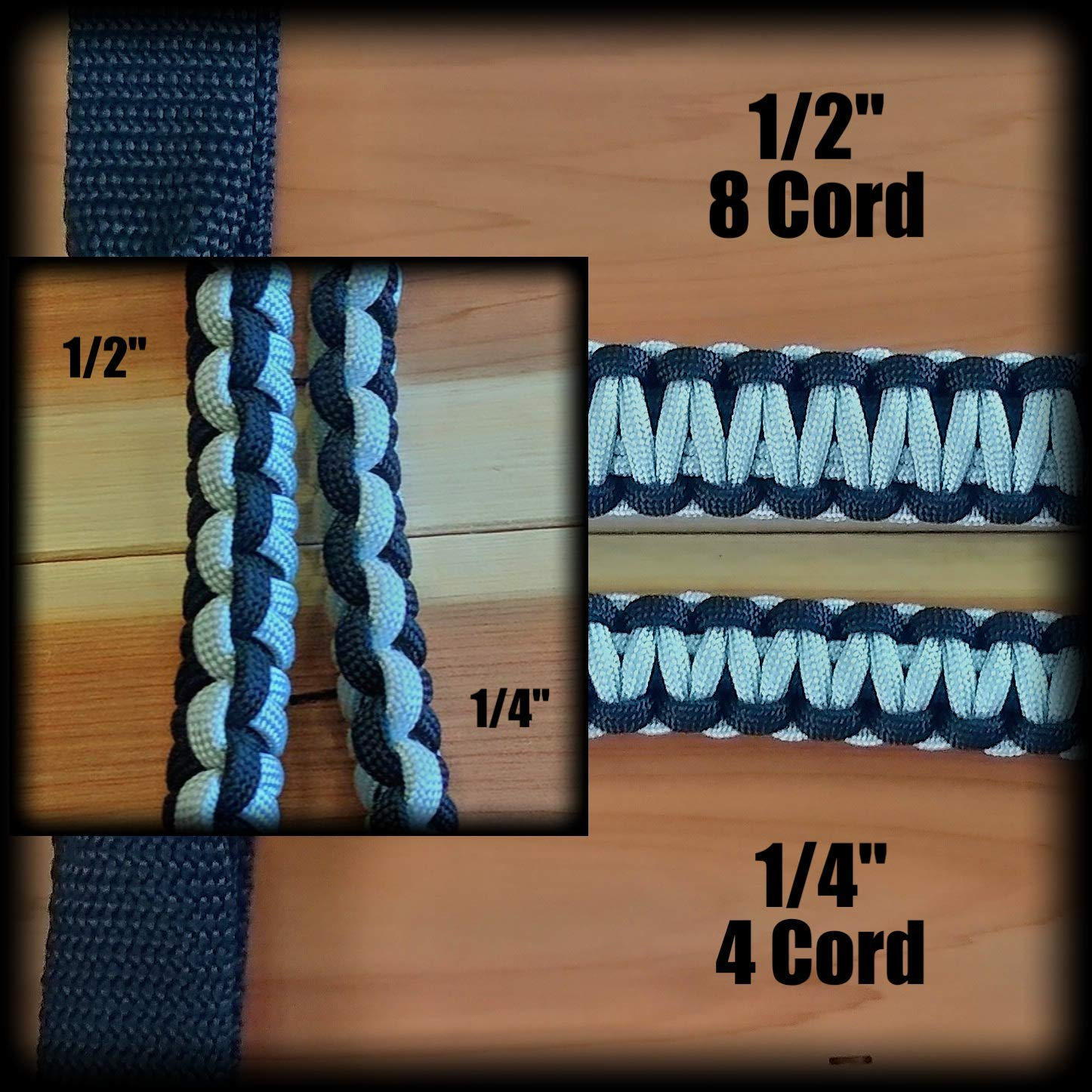 Pick Your Options Custom 2 Color Paracord Jeep Wrangler Grab Handles