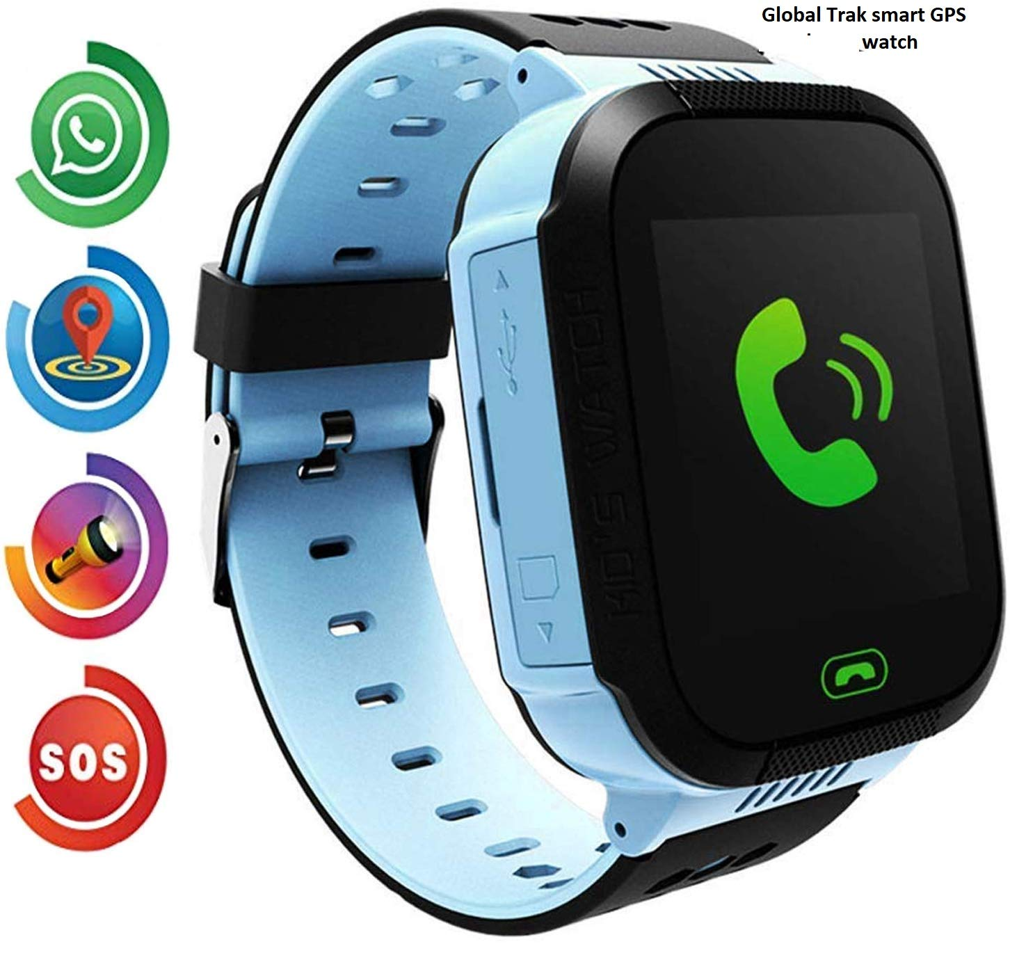 Global Trak Smart Watch with GPS Tracker Live sharing Location finder